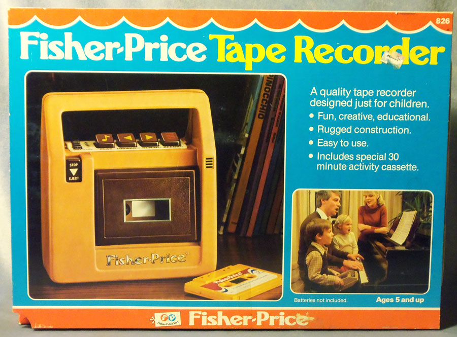 #826 Fisher-Price Tape Recorder