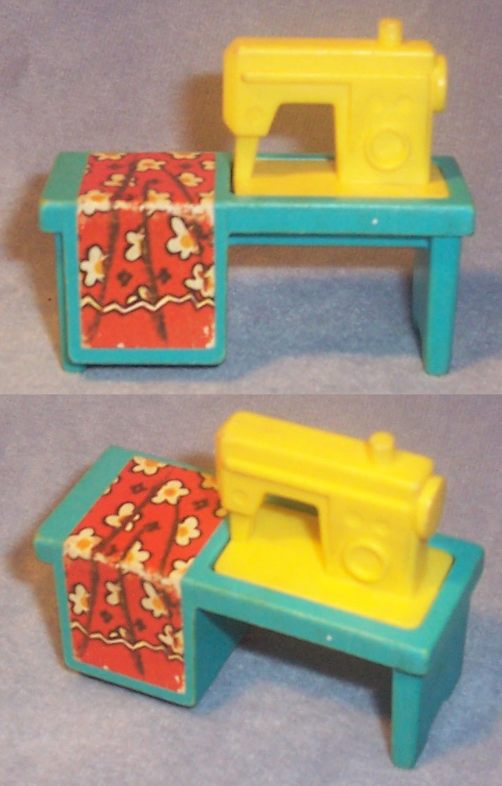 This Old Toy 39 S Fisher Price Original Little People Identification Furniture Sewing Machines