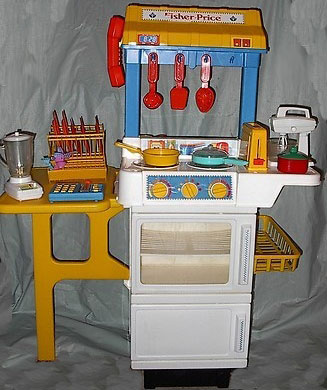 This old toy 39 s fisher price fun with food base for Kitchen set from the 90 s