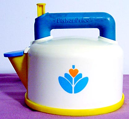 this old toy 39 s fisher price fun with food teapot coffee pot identification list. Black Bedroom Furniture Sets. Home Design Ideas