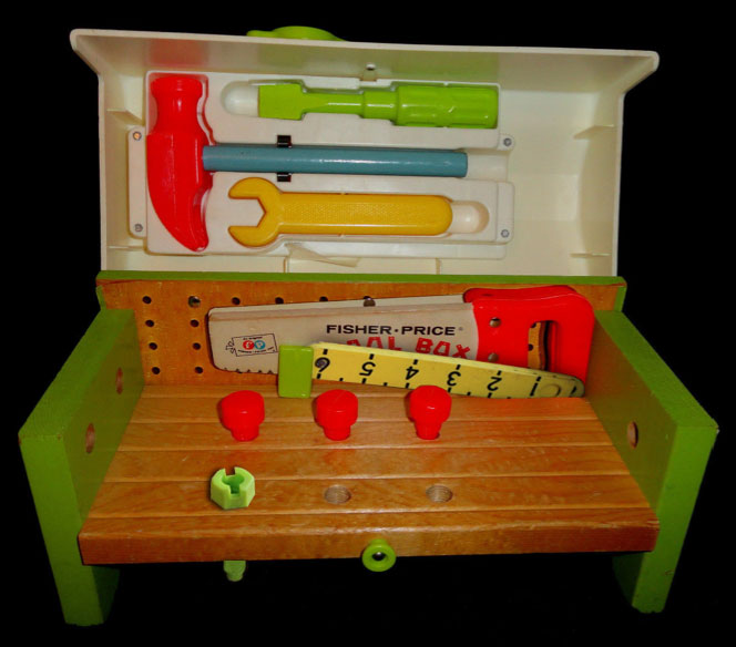 935 tool box work bench Fisher price tool bench