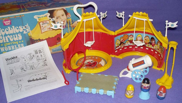 Circus Tent Half #2 & Hasbro Toys: Weebles: #577 Weebles Circus