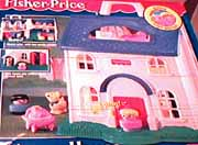 Vintage Fisher Price Little People 1996 Sweet Home House & Extras ...