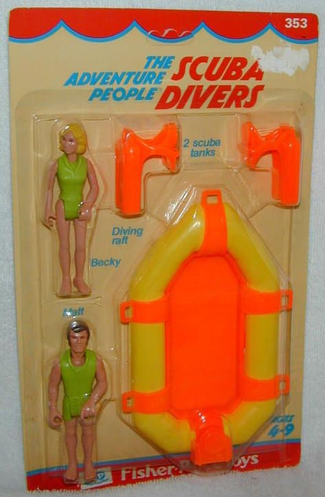 scubadiver Scuba diver wooden toy waldorf inspired wooden toy set wooden people figurine