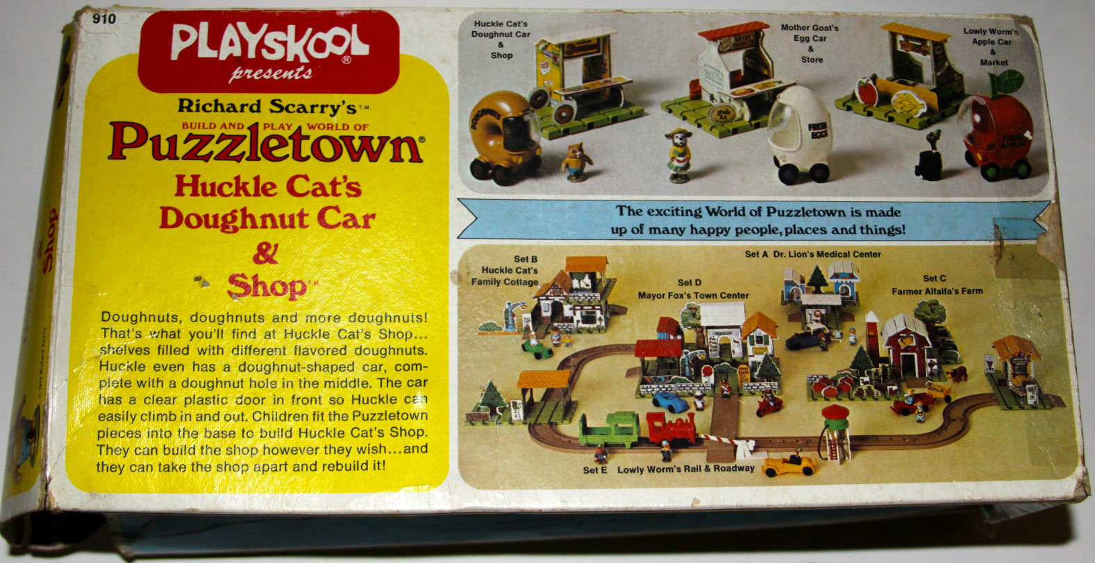 Playskool 910 Puzzletown Huckle Cat S Doughnut Car Amp Shop