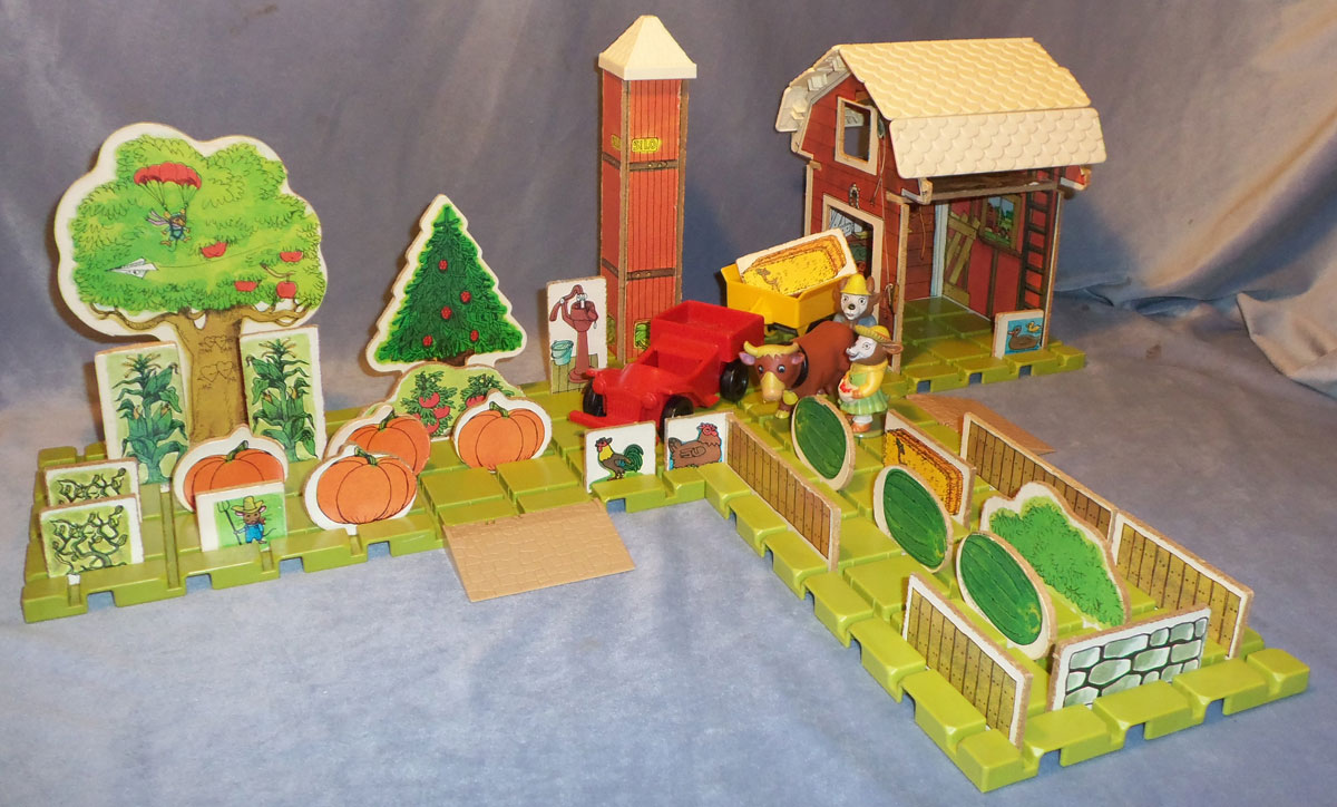 Playskool 917 Puzzletown Set C Farmer Alfalfa S Farm